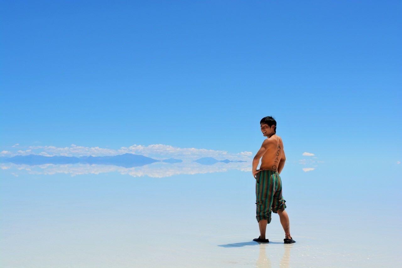 ボリビア・ウユニ塩湖での写真